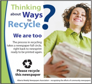 Newspaper Recycling Ad Campaign